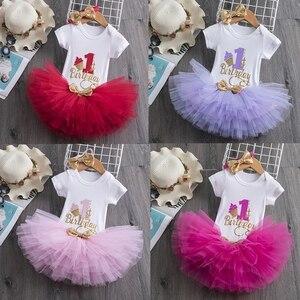 Todder bebê menina primeiro 1st festa de aniversário vestido minnie mouse tutu bolo outfits vestidos infantis meninas mangas compridas roupas