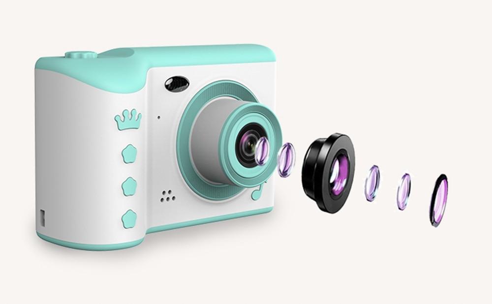 "H0edd2f99d0fd42bcaac402df0ec2dd27m Children Camera 2.8"" IPS Eye Protection Screen HD Touch Screen Digital Dual Lens 18MP Camera for Kids"