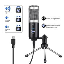 Condenser Microphone Usb Computer For Youtube Podcast Recording Instrument Play Live Voice Chat