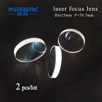 Weimeng 2pcs Dia 15mm F:70.7mm laser focusing lens JGS1 quartz plano-convex shape for laser welding machine