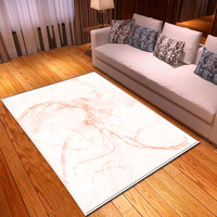 Nordic Marble Pattern White Carpets Flannel Soft Bedroom Bedside Dining Room Rug 3D Decoration Living Room Big Carpet Area Rug