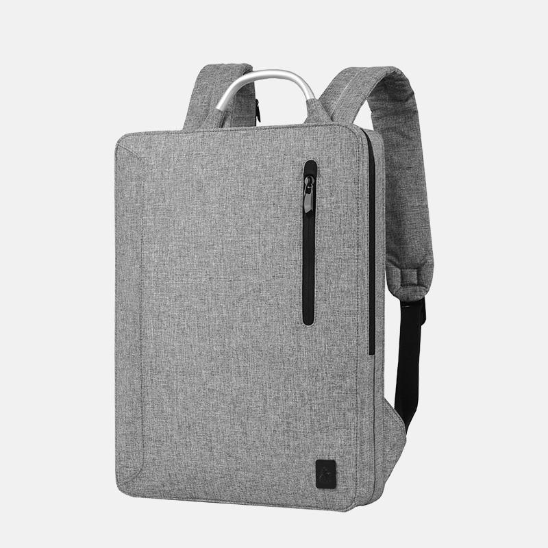 CAI Super Thin Backpack Laptop School Office Simply Bag Men Travel Autumn Style Book Bags Waterproof Zipper Metallic Handle