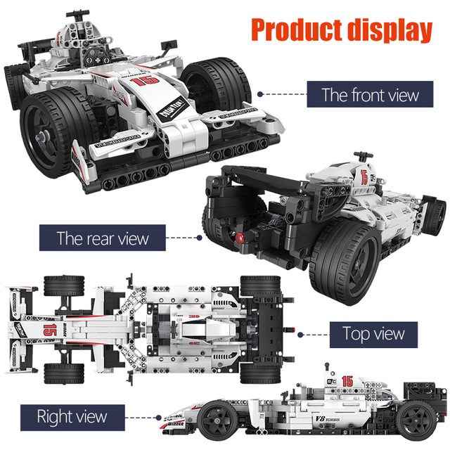 ERBO 729pcs City F1 Racing Car Remote Control Technic RC Car Electric truck Building Blocks bricks Toys For Children gifts 4