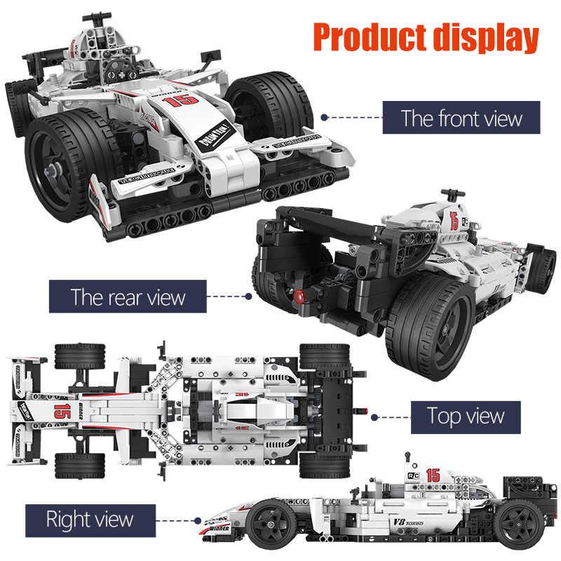 ERBO 729pcs City F1 RacingรถรีโมทคอนโทรลTechnicรถRCไฟฟ้ารถบรรทุกอาคารบล็อกอิฐของเล่นสำหรับเด็กของขวัญ