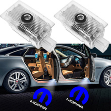 2 4pcs LED Car Door Light For Chrysler Lancia Thema 200 300 Series M MOPAR Logo Emblem Shadow Projector Welcome Lamp Car Styling