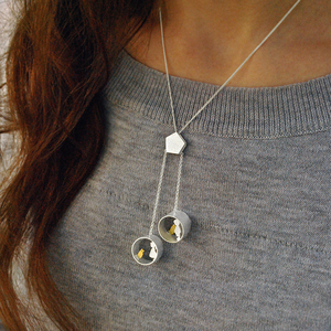 Image 4 - 蓮楽しいリアル 925 スターリングシルバークリエイティブ手作りファインジュエリーかわいい会議愛猫ネックレスなしで女性のための