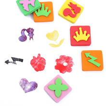 15pcs Art Painting Stamps Sponge Stamper with Cute Patterns Early Learning Drawing Tools for Children Toddler Crafts DIY