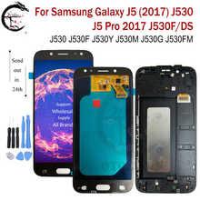 Lcd com moldura para samsung galaxy j5 pro 2017 j530 lcd j530f j530y j530g j530fm display tela de toque sensor digitador assembléia