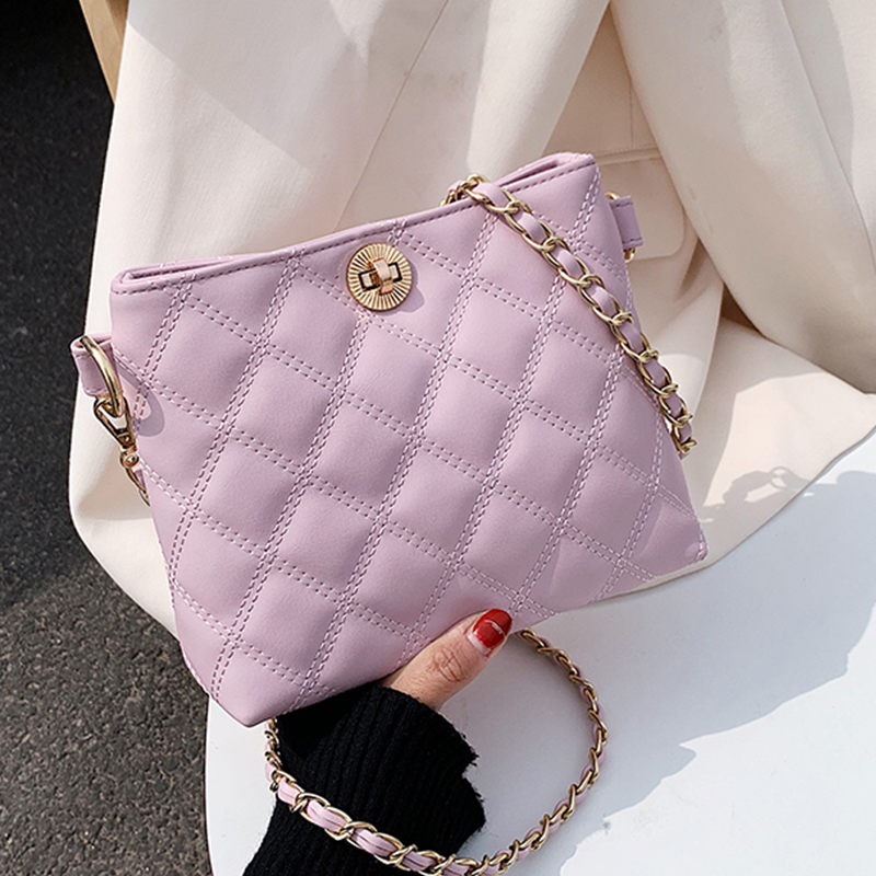 Fahion Shoulder Bag Women Travel Bags Leather Pu Quilted Bag Female Luxury Handbags Women Bags Designer Sac A Main Femme