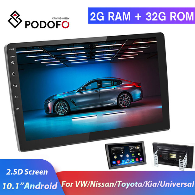 Android 10.1 for 2006 2007 2008 2009 2010 2011 2012 Toyota Corolla 9 HD 2.5D Tempered Glass Mirror Car GPS Radio Player Universal Radio GPS Navigation Audio WiFi Player 2+32G