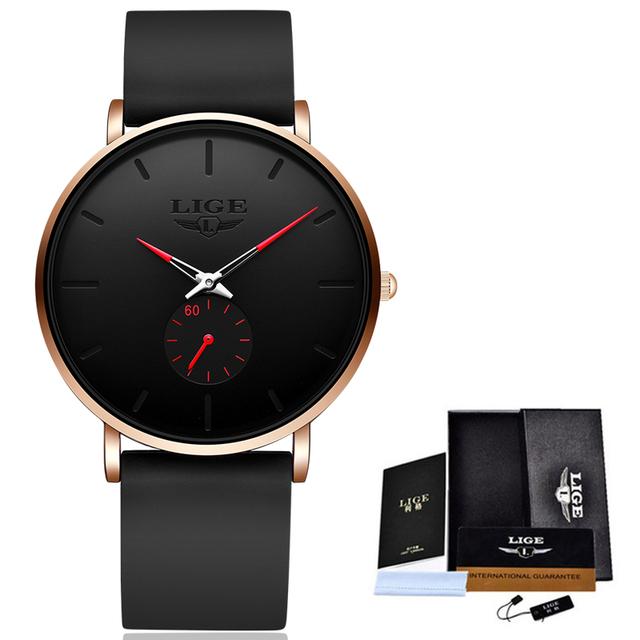 LIGE 2020 New Fashion Sports Mens Watches Top Brand Luxury Waterproof Simple Ultra-Thin Watch Men Quartz Clock Relogio Masculino