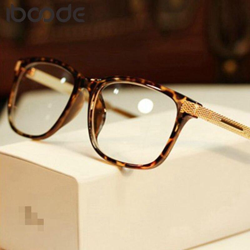 Iboode Fashion Cool Glasses Women Retro Vintage Reading Myopia Eyeglasses Frame Men Square Glasses Optical Clear Eyewear Oculos