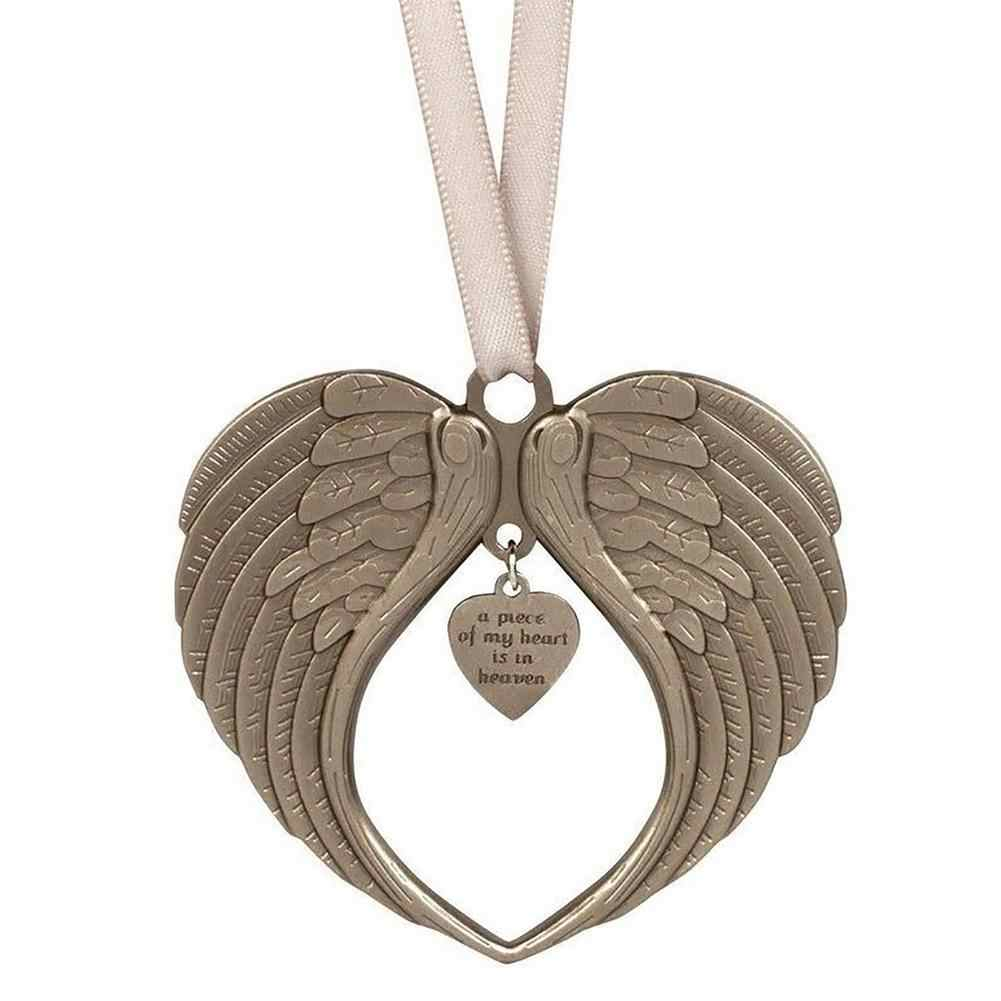 Angel Wing Shaped Pendents Christmas Tree Ornaments Heart Shape DIY Decoration