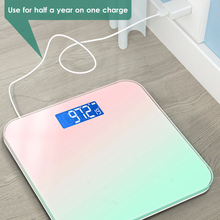 Bathroom-Scale Weighing Usb-Charging Color Digital for Led-Display Gradient