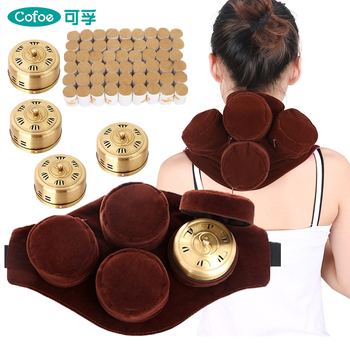 Cofoe 1/4pcs Copper Moxibustion moxa moxibustion Box with 49pcs Smokeless Moxibustion Roll moxa stick for Therapy Massage 100pcs lot smokeless moxa stick acupuncture massage moxibustion for chinese traditional body massage therapy