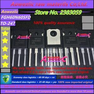 Image 2 - Aoweziic 2020 + 10 adet 100% yeni ithal orijinal FGH60N60SFD FGH60N60 TO 247 elektrik kaynakçı üçlü IGBT tüp 60A 600V