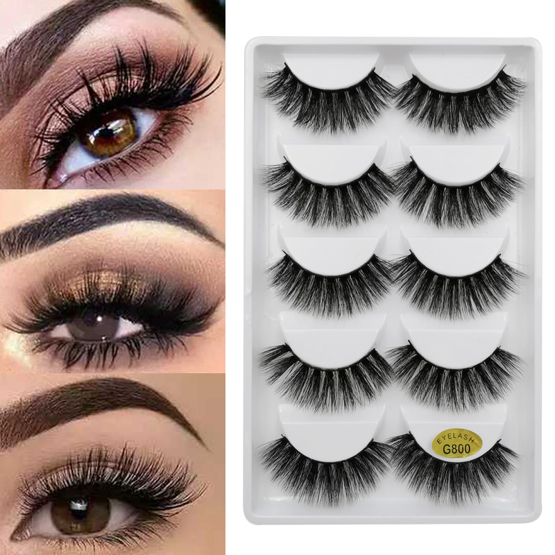 3D Eye Lashes Handmade Mink Eyelashes Natural Fake Lash Make Up Mink Lashes Eyelash Extension Makeup Cilios Maquiagem Faux Cils