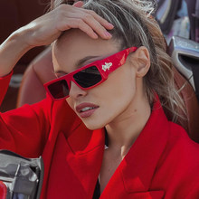 2021 Fashion Luxury Brand Square Sunglasses For Women Vintage Shield Goggle Black Red Sun Glasses Men Female Cool Punk Eyewear