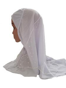 Image 5 - Arabischen Kinder Mädchen Hijab Caps Muslimischen Kopf Abdeckung Schals Kopftuch Islamischen Hut Volle Abdeckung Gebet Hut Haar Verlust Headwear Hüte ramadan