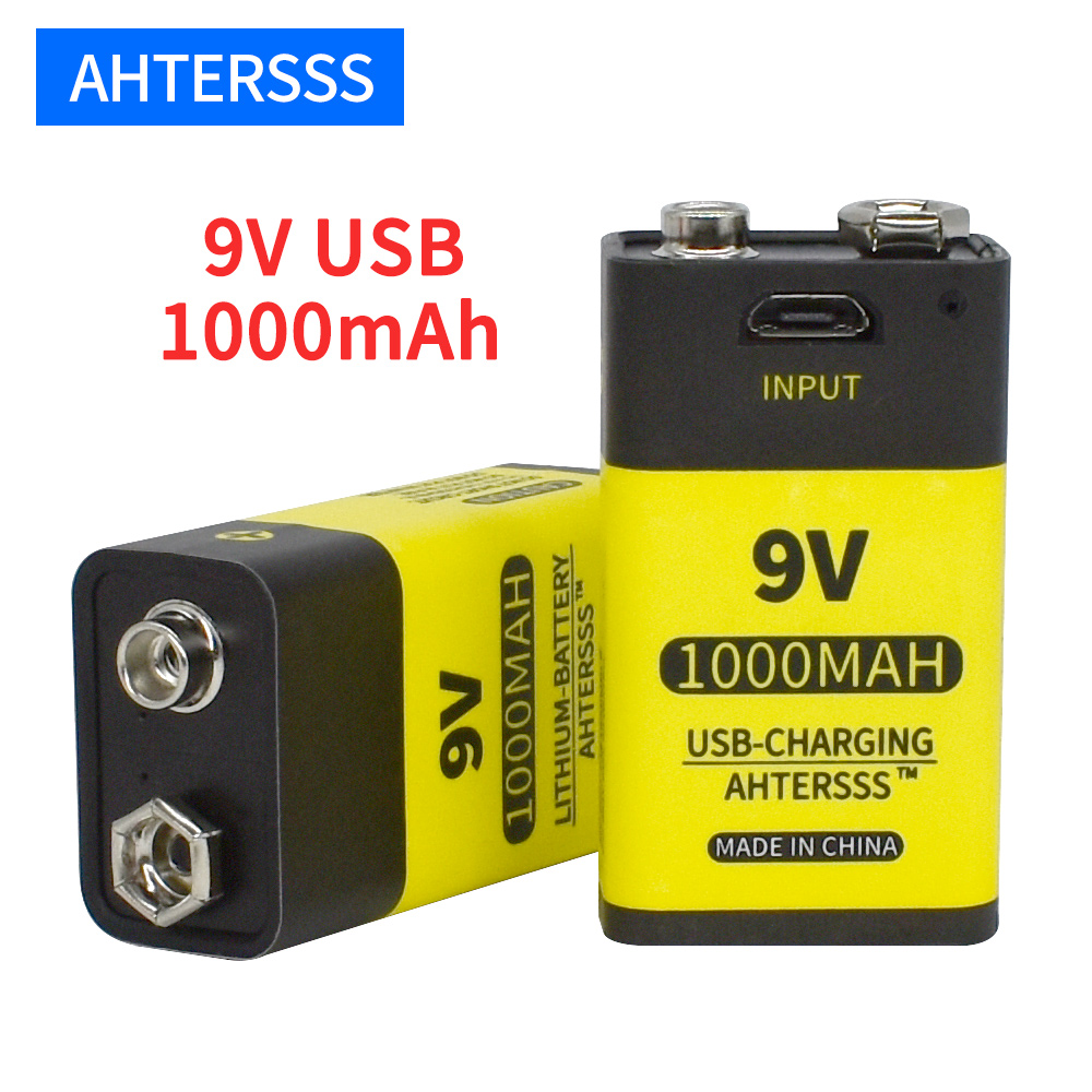 Литий ионная аккумуляторная батарея 9 в usb 6f22 9 В для мультиметра дымовая сигнализация и т. Д. Батареи Перезаряжаемые батареи      АлиЭкспресс