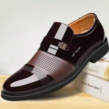 Роскошные брендовые Мужские модельные лоферы из искусственной кожи в деловом стиле; черные туфли с острым носком; Туфли-оксфорды; дышащие официальные свадебные туфли