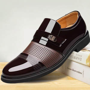 Black Shoes Loafers Business-Dress Oxford Pointed-Toe Formal Fashion Luxury Brand PU