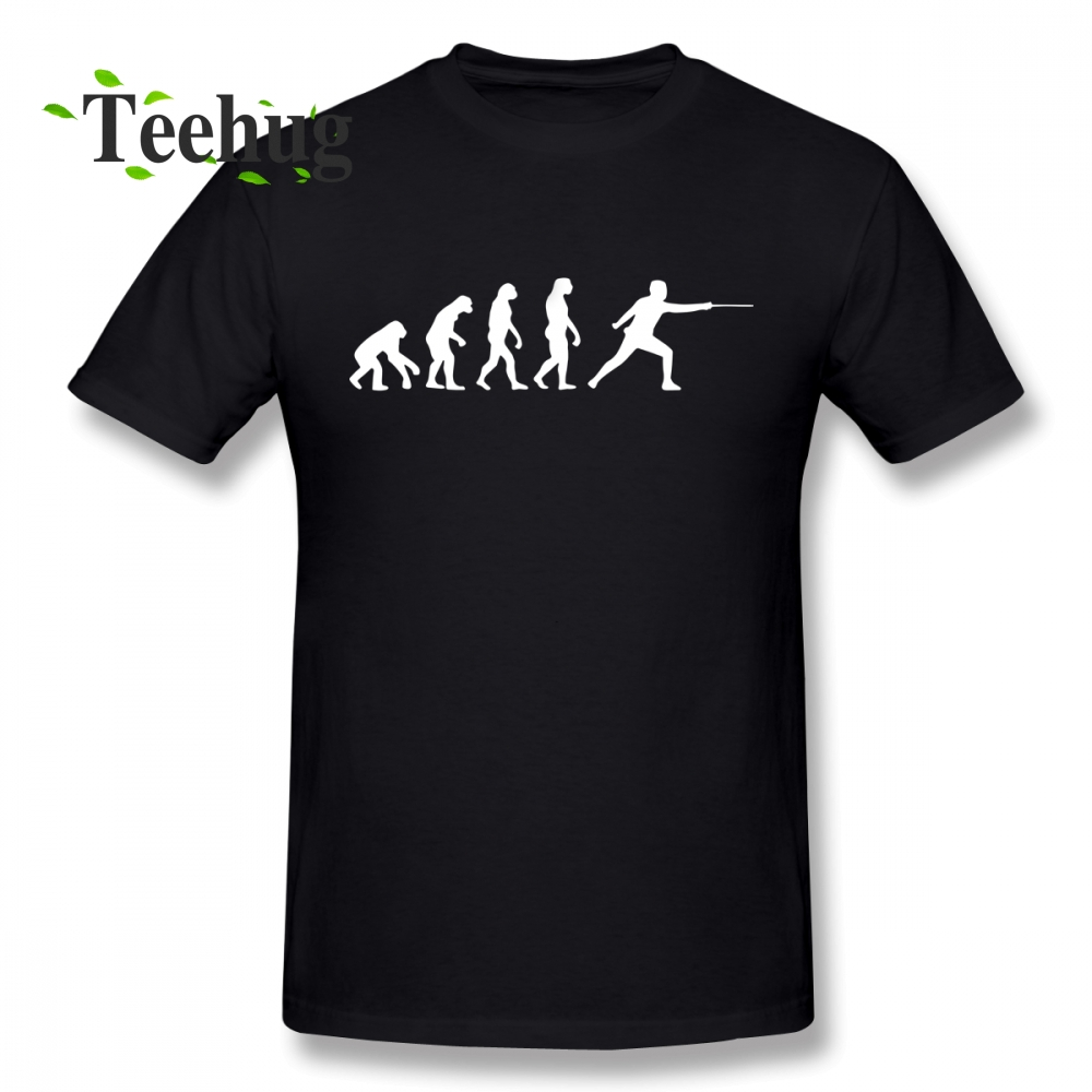 Fashionable Fencing Evolution T Shirt New Boy Simple Design For Man Quality Cotton T shirt in T Shirts from Men 39 s Clothing
