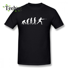 Fashionable Fencing Evolution T Shirt New Boy Simple Design For Man Quality Cotton T-shirt