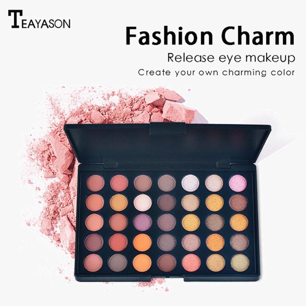 35 Colors Earth Eye Shadow Eye Makeup Nudes Palette Matte Eyeshadow Pallete Glitter Powder