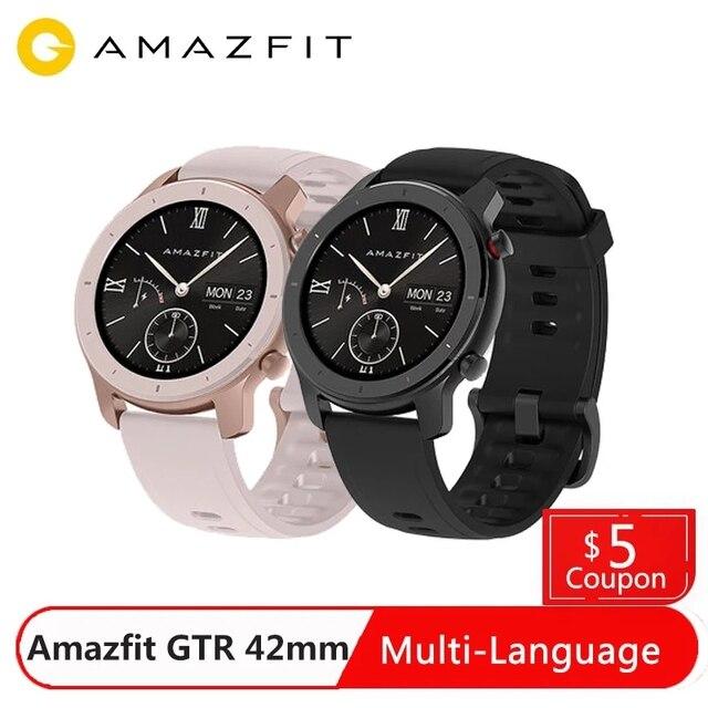 Amazfit gtr 42 ミリメートルスマートウォッチグローバルバージョン 5ATM防水スマートウォッチ 12 スポーツモード
