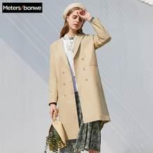 Metersbonwe 2020 Lente Nieuwe Mode Geul Vrouwelijke Windjack Jas Vrouwen Casual Trench Office Lady Wilde Retro Pak Trenchcoat(China)