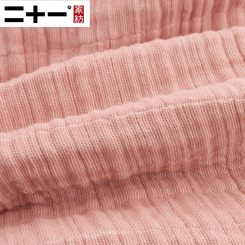 Двадцать один класс полный хлопковый комплект из трех слоев марли Полотенца Стёганое одеяло крашенная в пряже мыть натуральный хлопок ковр... - 4
