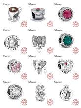Breloques Pandora originales en argent 925 pour femmes, Bracelet, tasse de café, rose et blanc, à la mode, nouvelle collection