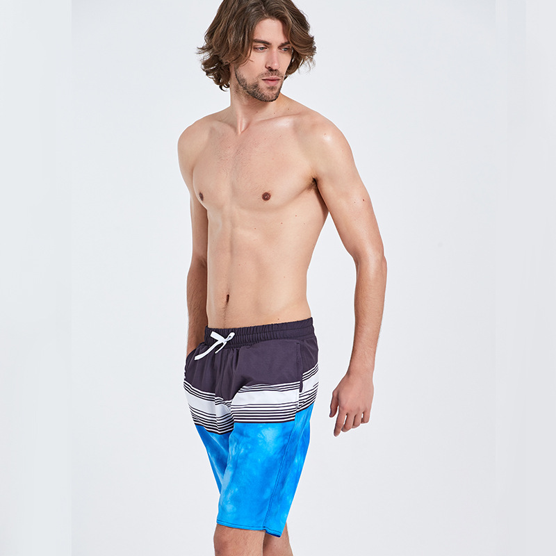 Sbart Summer Large Size Spandex Beach Shorts Men's Large Trunks Casual Shorts Loose-Fit Shorts