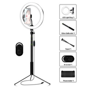 Image 5 - Photography 5.7/8/10.2 Inch LED Selfie Ring Light Dimmable LED Ring Lamp Video Camera Phone Ringlight For Live YouTube Tik tok