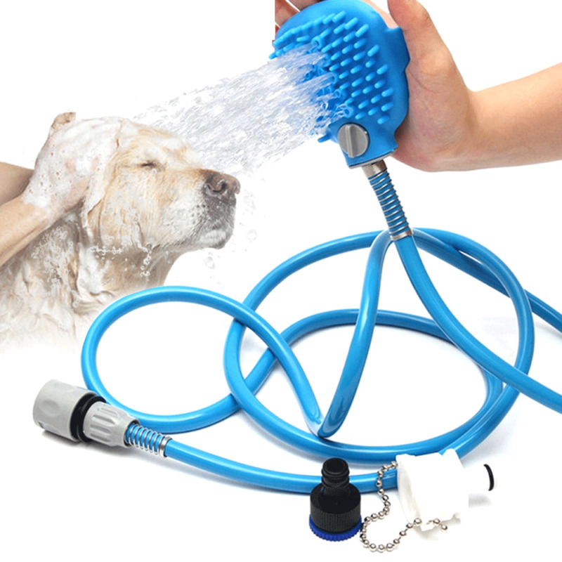 Dog Hair Pet Shower Washing Grooming Spray Hose Bath Tub Sink Faucet Attachment