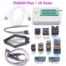 Minipro TL866II Plus مبرمج عالمي PIC AVR سرعة عالية أفضل من TL866CS / TL866A EEPROM مبرمج + 10 محولات