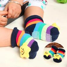 Toddler Cartoon Newborn Baby Girls Boys Anti-Slip Floor Socks Cute Baby Children Animal Cotton Leg Warmers Striped Socks newborn baby socks cotton boy striped floor socks baby non slip socks children s anti slip socks wholesale 5pair 2pair 1pair