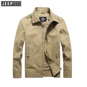 JEEP SPIRIT Autumn Jacket Men Windbreaker Coat Man Cotton Dad Jackets Straight Military Jackets Coats Men chaqueta hombre M-4XL