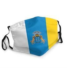 Bandeira de espanha oceano respirável boca máscara facial adulto máscara espanhola anti proteção contra poeira capa respirador boca muffle