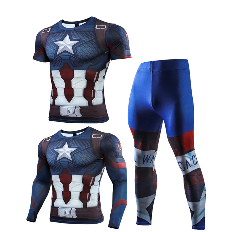 Compression Men's Sport Suits Quick Dry Running sets High Quality Clothes Joggers Training Gym Fitness Tracksuits MMA Rashguard 1