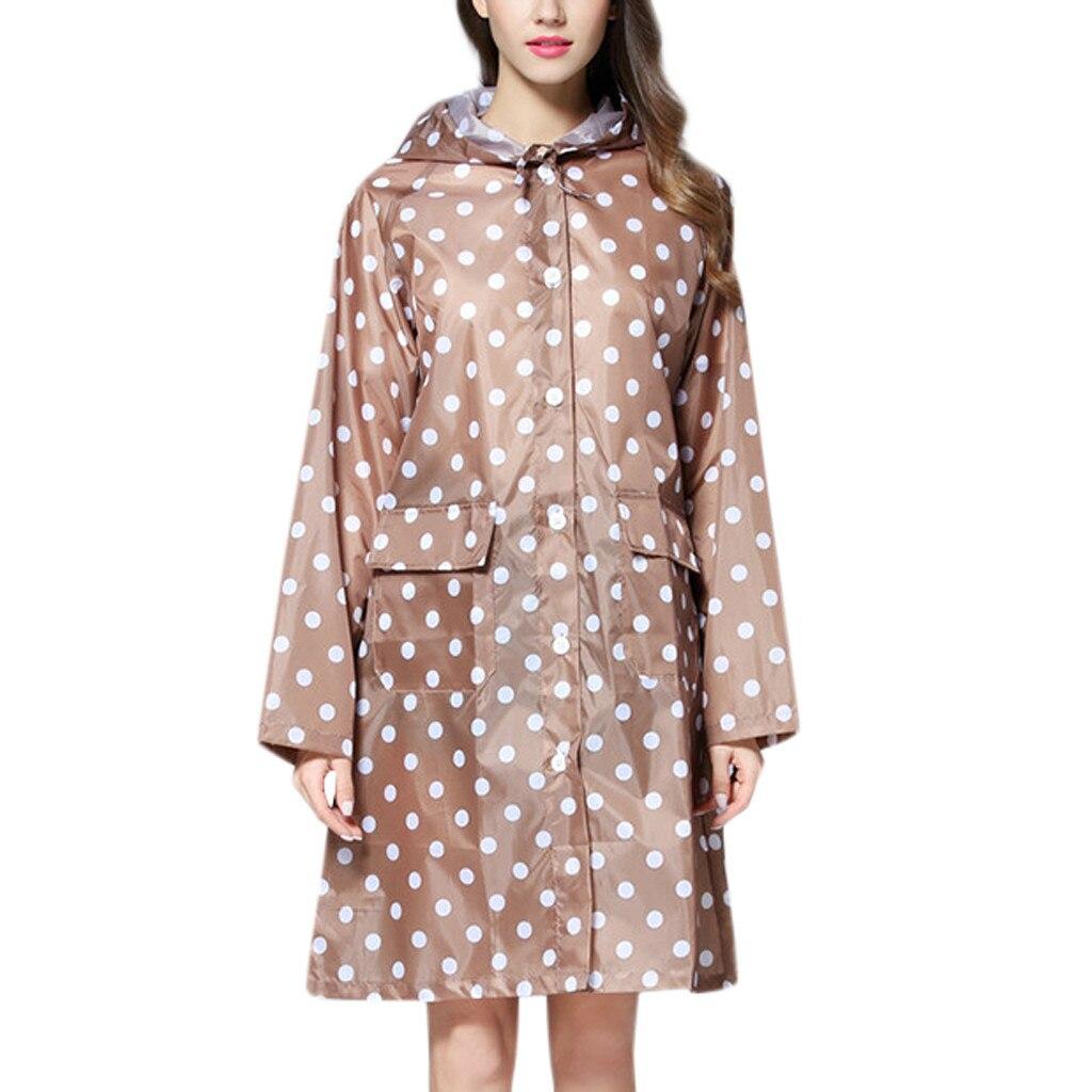Women jacket Women's Wave Rain Jacket Outdoor Waterproof Windproof Coat Outwear Women's blouse fur coat #YB40(China)