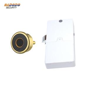 Image 1 - Mini cerradura de huella dactilar inteligente, cerradura de puerta eléctrica biométrica para cajón de armario
