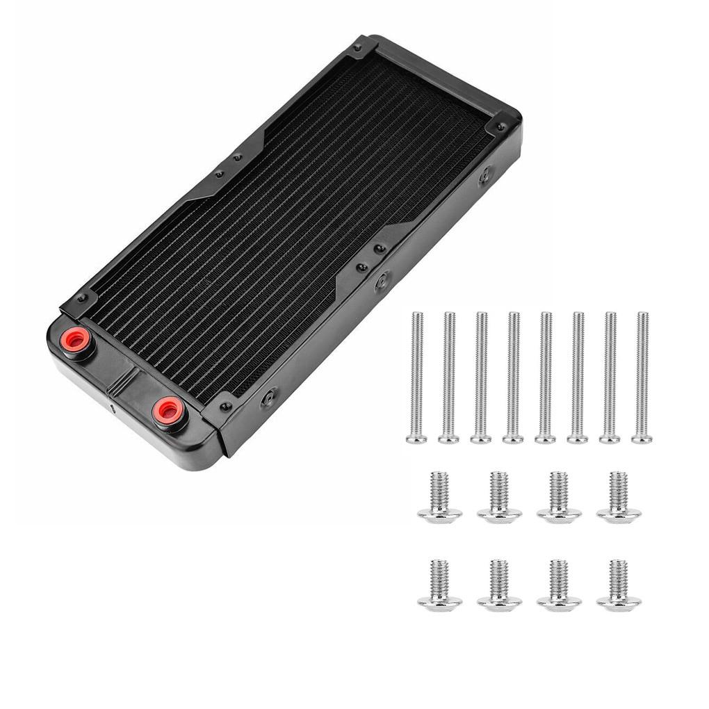 Алюминиевый радиатор для водяного охлаждения ЦП с интерфейсом G1/4, 240 мм