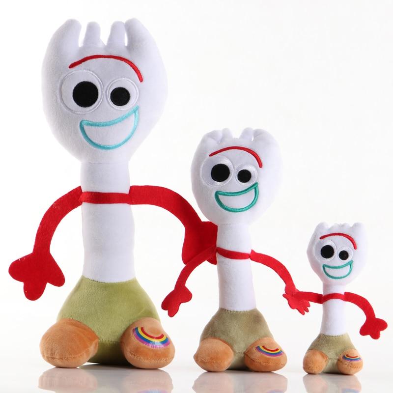 1pcs 15-35cm Toy Story 4 Forky Plush Toys Movie Forky Soft Stuffed Soft Stuffed Toys Gifts For Kids Children