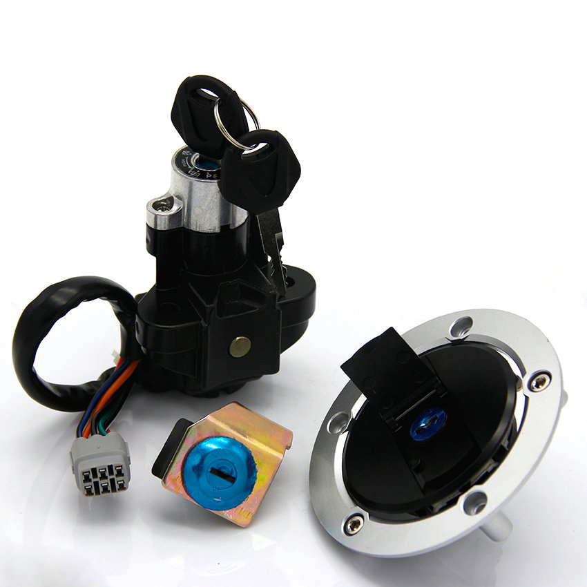 Ignition Switch Fuel Gas Cap Seat Lock Key Kit For Suzuki GSF650 Bandit 650 GSF650S <font><b>GSF1200S</b></font> GSF1250 GSF1250S GSX650F Katana 650 image