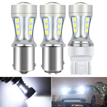 2X 1157 LED BAY15D P21/5W LED Bulb Car Brake Reverse Light BMW E53 E70 F10 F30 F20 E87 M3 M5 E60 E90 E91 E92 E36 E30 E39 E46 image