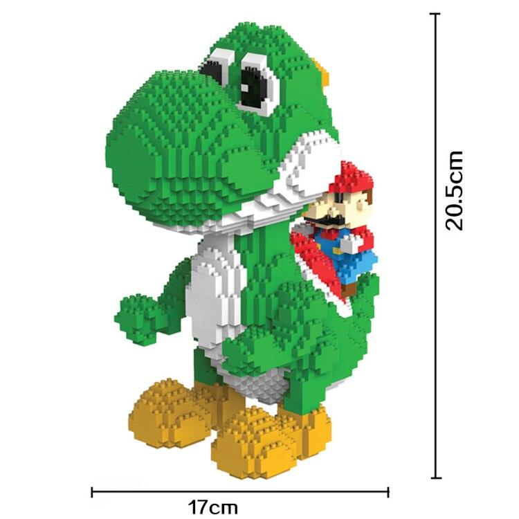 2000 Uds. 9020 Mini bloques Yoshi tamaño grande bloques de Mario Anime DIY Juguetes de construcción Juguetes modelo de subasta Juguetes regalos para niños