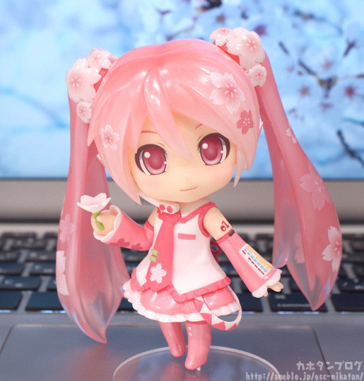 Hatsune Miku Anime Pink New Flower Anime Action Figure PVC New Collection Figures Toys Collection For Kids Gift