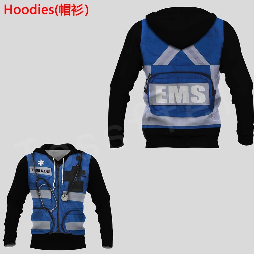 Tessffel Emergency Medical Technician EMT EMS Paramedic NewFashion Unisex Pullover 3DPrint Sweatshirt/Hoodies/zipper/Jacket s-20